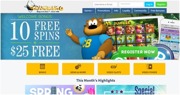 Cyber bingo $25 no deposit bonus